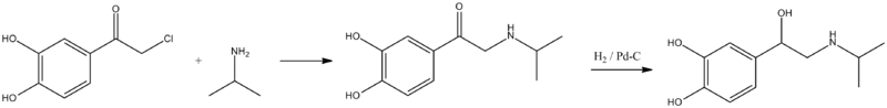 Isoproterenol synthesis.png