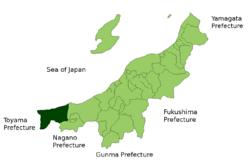 絲魚川市位置圖