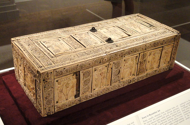 File:Ivory Box with Scenes of Adam and Eve, 1000-1100s AD, Byzantine, Constantinople, ivory, wood - Cleveland Museum of Art - DSC08377.JPG