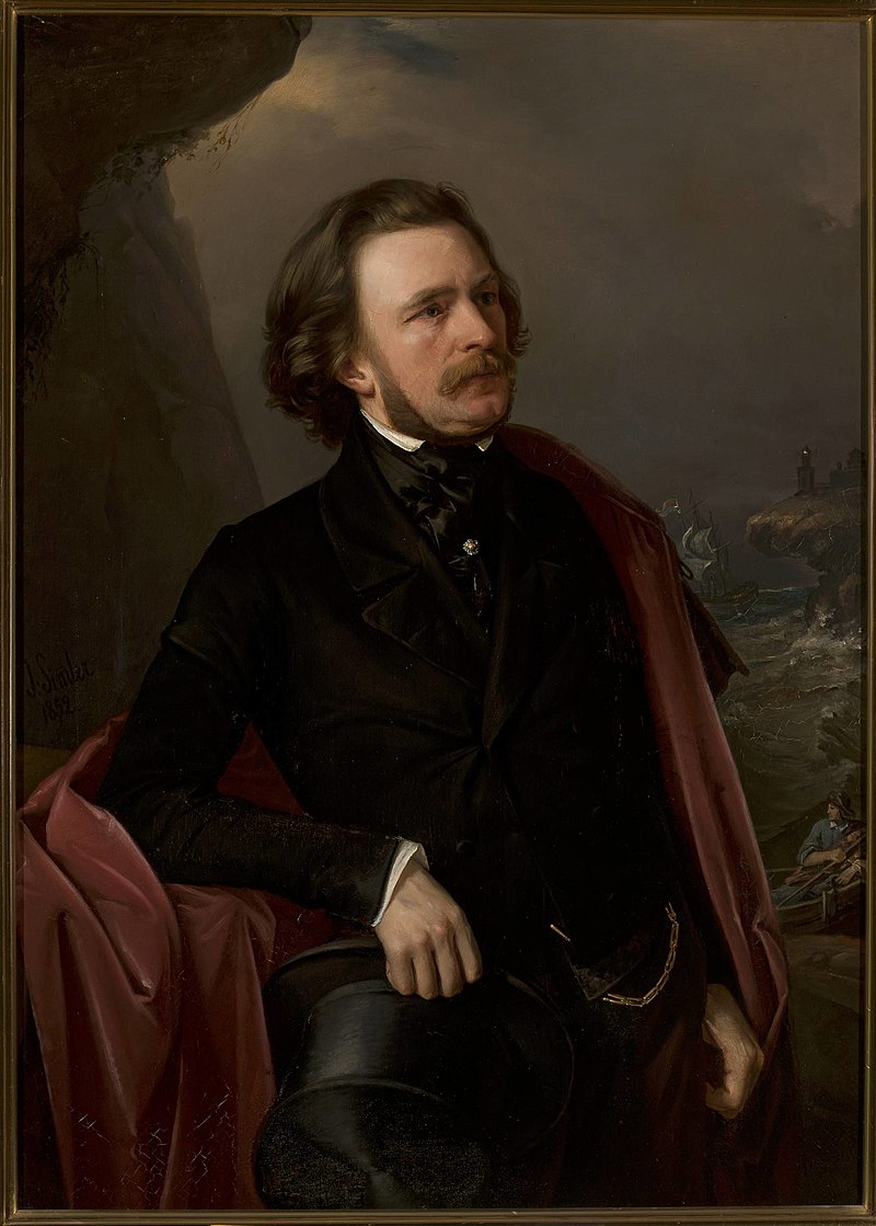 Józef Simmler - Portrait of doctor Teodor Teutold-Tripplin, traveller - MP 273 - National Museum in Warsaw.jpg