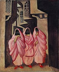 Three Women on the Street of Baghdad
