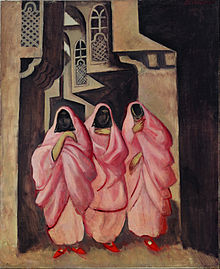 Jāzeps Grosvalds - Three Women on the Street of Baghdad - Google Art Project.jpg