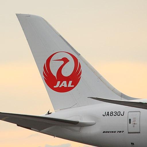 JAL Dreamliner tail (15062685180)