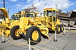 JASDF Motor Grader(Komatsu GD-505A, 44-1638) left front view at Aibano Sub Base October 14, 2018 02.jpg