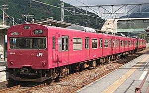 播但線. 姫路駅 , 寺前駅間で使用されている103系3500番台(