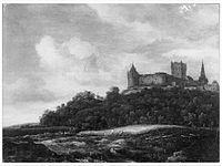 Jacob van Ruisdael - Gezicht op Kasteel Bentheim met aan de voet van de heuvel een korenveld.jpg