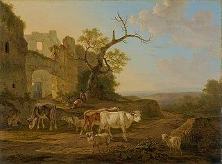 Landscape with Cows near a Ruin