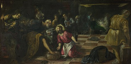 Jacopo Tintoretto - Christ washing the Feet of the Disciples - Google Art Project.jpg