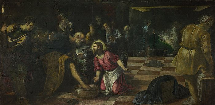 Jacopo Tintoretto - Christ washing the Feet of the Disciples - Google Art Project