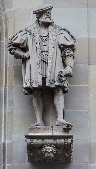 Jacob Sturm von Sturmeck - Statue of Sturm in Strasbourg, by sculptor Alfred Marzolff.