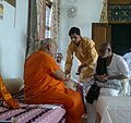 Jagadguru Rambhadracharya with Morari Bapu 01.jpg