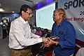 Jahar Das Receiving Memento after Delivery lecture - Quality Measures in Sports Fitness and Training - SPORTSMEDCON 2019 - SSKM Hospital - Kolkata 2019-03-17 3223.JPG