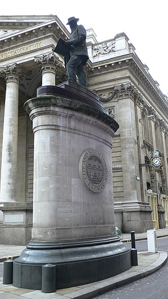 Bank and Monument stations - Statue of James Henry Greathead which was erected by Bank station in 1994.