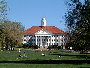 James Madison University quad in Harrisonburg,...