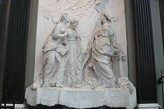 Jan Baptist Xavery - Relief in the St. Bavochurch in Haarlem, 1739