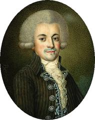Miniature of Jan Chrystian Kamsetzer (1753-1795).