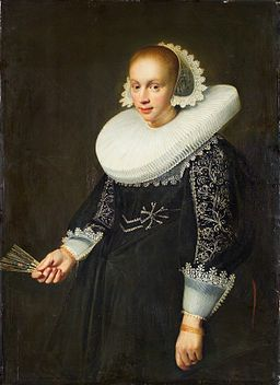 Jan Daemen Cool Portrait of a Young Woman With a Fan
