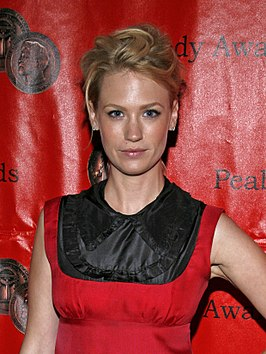 January Jones tijdens Annual Peabody Awards, 2008.
