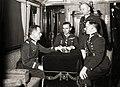 Janusz Gąsiorowski, Jan Axentowicz, Konstanty Horoch, Jerzy Englisch (railway coach 1935).JPG