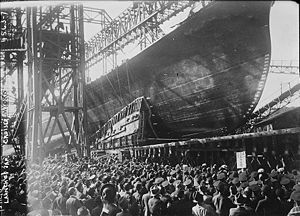Japanese cruiser Myōkō - Launch of Myōkō, April 16, 1927.