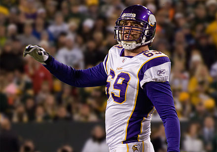 Defensive end Jared Allen played for the Vikings from 2008 to 2013. Jared Allen.jpg