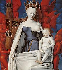 La Vierge et l'Enfant entourés d'anges