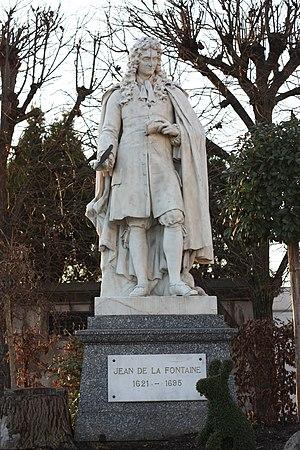 Charles-René Laitié - Jean de La Fontaine at Château-Thierry