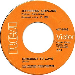 Somebody to Love (Jefferson Airplane song) - Image: Jefferson airplane somebody to love 11