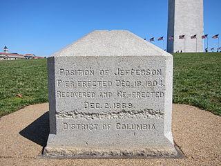 Jefferson Pier monument stone