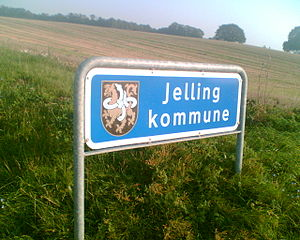 Jelling - Former sign of Jelling Municipality