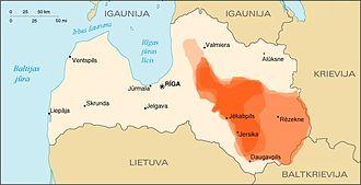 History of Latvia - Estimated territories under Jersika rule
