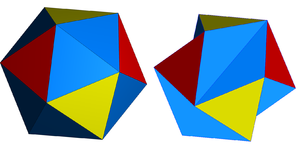 Icosahedron - The regular icosahedron and Jessen's icosahedron.