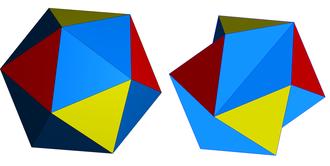 Icosahedron - The regular icosahedron and Jessen's icosahedron.