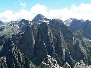Prokletije Mountain range on the western Balkan peninsula