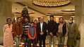 Jimmy with Wikimedians at The Taj Mahal Hotel, New Delhi.jpg