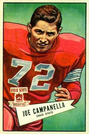 Joe Campanella - Campanella on a 1952 Bowman football card