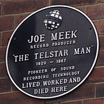 Joe Meek plaque, London.jpg