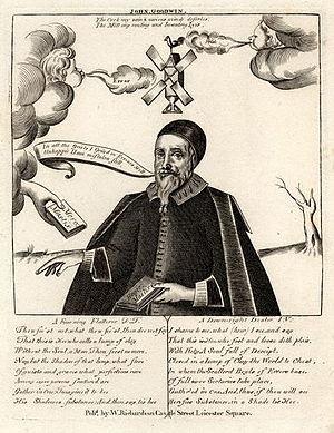 John Goodwin (preacher) - John Goodwin, satirical engraving (18th century).