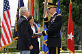 John Kitzhaber administers the oath of office to Oregon's new adjutant general, Maj. Gen. Daniel R. Hokanson (9419321214).jpg