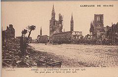John Lakeland, Contrasting Photographic Views of Ypres and forget-me-not cards, item 8.jpg