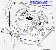 Joint Security Area 1976 map