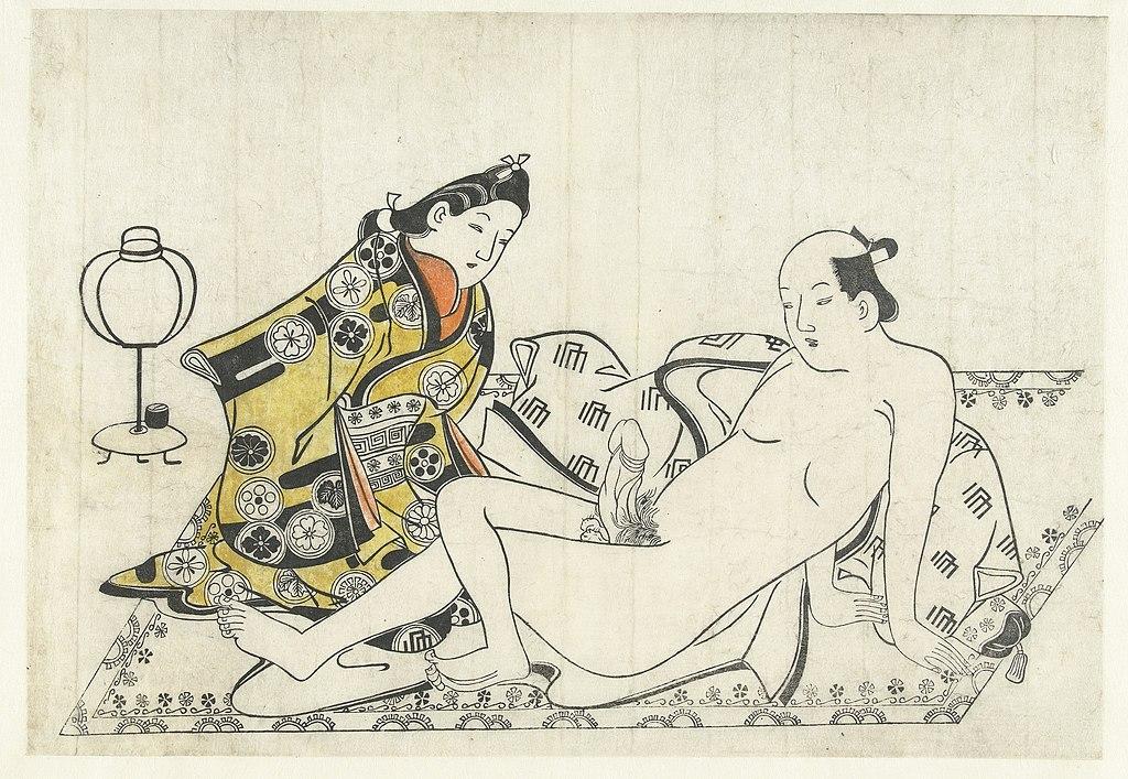 Image érotique japonaise (1680) au Rijksmuseum d'Amsterdam.