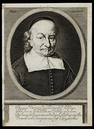 Hendrik Bary - Joost van den Vondel, portrait by Bary, 1682.