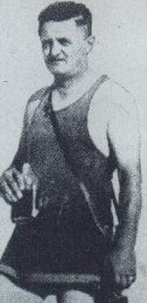 Joe Ball - Joe Ball, the notorious serial killer, wearing a swimsuit and holding a bottle of alcohol
