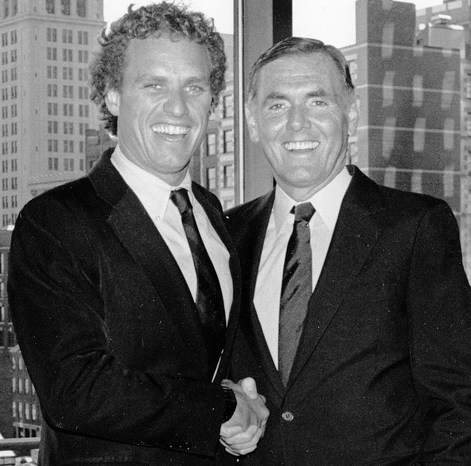 Joseph P. Kennedy II and Mayor Raymond L. Flynn (9516907137) (cropped1)