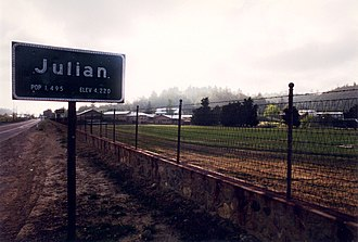 Julian, California - Julian community limit