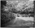 June 1979. MILL POND DAM (1826). LOOKING EAST. - Womack's Mill, Yanceyville, Caswell County, NC HAER NC,17-YANV.V,3-1.tif