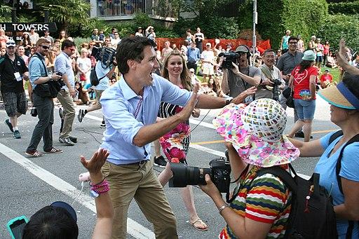 Justin Trudeau at the Vancouver LGBTQ Pride 2015