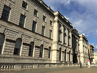 King's College London Faculty of Arts and Humanities - Image: KCL embankment facade
