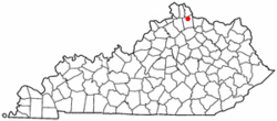 Location of Butler, Kentucky